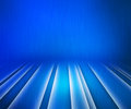 Glowing stripes blue stage background light Stock Photo