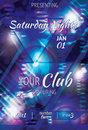 Glowing triangle flyer design shining space style light effect club Royalty Free Stock Photography
