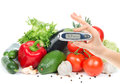 Glucometer for glucose level blood test Royalty Free Stock Images