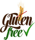 Gluten free artistic message isolated on a white background Royalty Free Stock Photography