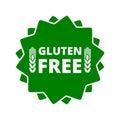Gluten free button sign icon