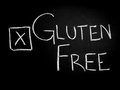 Gluten free choice on blackboard sign Royalty Free Stock Image