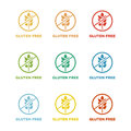 Gluten free colorful badges