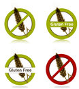 Gluten free diet icons Royalty Free Stock Image