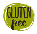 Gluten free hand drawn isolated label