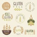 Gluten free labels vector eps hand drawn signs Royalty Free Stock Photography