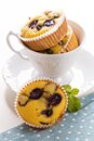 Gluten free muffins with grapes in a cup Stock Photo