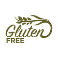 Gluten free in organic heallthy food products logo design Royalty Free Stock Photo