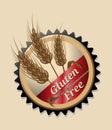 Gluten Free, round emblem or icon