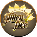 Gluten free round symbol design bold and bright Royalty Free Stock Image