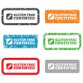Gluten free sign icon no gluten symbol retro stamps and badges Stock Image
