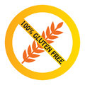 Gluten free symbol for ads or packaging Royalty Free Stock Photos