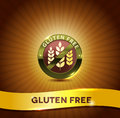 Gluten free symbol and bright background harmonic color combinations Royalty Free Stock Images