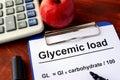 Glycemic load formula. Royalty Free Stock Photo