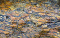 Gneiss metamorphic rock pattern Royalty Free Stock Photo