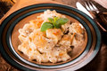 Gnocchi with cheese traditional homemade in the plate selectiive focus on the Stock Images
