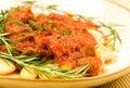 Gnocchi with Ragu Stock Photo