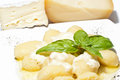 Gnocchi stuffed with four cheeses italian Royalty Free Stock Photo