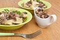 Gnocchi with Wild Mushroom Sauce Royalty Free Stock Photo