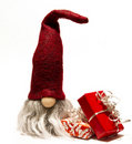 Gnome and christmas gifts Royalty Free Stock Photos