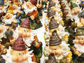 Gnomes abundance of various figures dwarf the store Royalty Free Stock Image