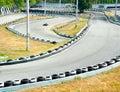 Go-cart racing Royalty Free Stock Photos