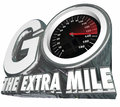 Go the Extra Mile Speedometer Additional Effort Distance Results Royalty Free Stock Photo
