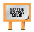 Go the extra mile wood sign illustration design over white Royalty Free Stock Photos