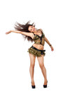 Go-go dancer with long hair Royalty Free Stock Photo