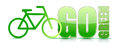 Go green bike sign illustration design Royalty Free Stock Images
