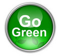Go green button Royalty Free Stock Photo