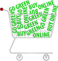 Go green - buy online Stock Photo