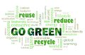 Go Green eco friendly concept Stock Photo