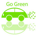 Go Green Eco Friendly Electric Car Royalty Free Stock Image