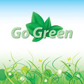 Go green eco sign with eco friendly concept Stock Photography