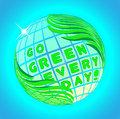 Go green every day vector illustration Royalty Free Stock Photography