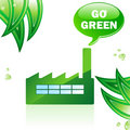 Go Green Glossy Factory. Royalty Free Stock Photo