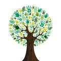 Andare verde braccia albero