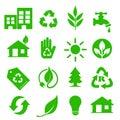 Go Green Icons set - 01 Royalty Free Stock Photo