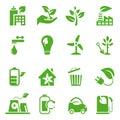 Go Green Icons set - 02 Royalty Free Stock Photo