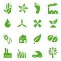 Go Green Icons set - 03 Royalty Free Stock Photo