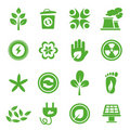 Go Green Icons set - 04 Royalty Free Stock Photo