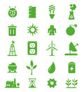 Go Green Icons set - 05 Royalty Free Stock Photo