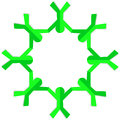 Go Green Kids Holding Hands Round Frame