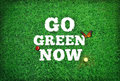 Go green now wallpaper image background Stock Photo