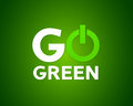 Go green power concept abstract background Stock Images