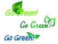 Go green symbols Royalty Free Stock Photos