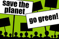 Go green think about the environment save the planet and Royalty Free Stock Images