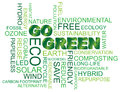 Go Green Word Cloud Illustration Stock Image