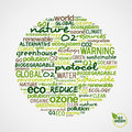 Go Green. Words about environmental conservation Royalty Free Stock Photos